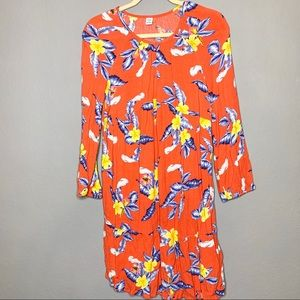 Old Navy size M orange dress long sleeve
